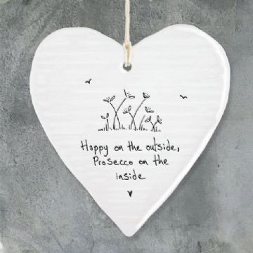 East of India Message Heart - Happy on the outside...